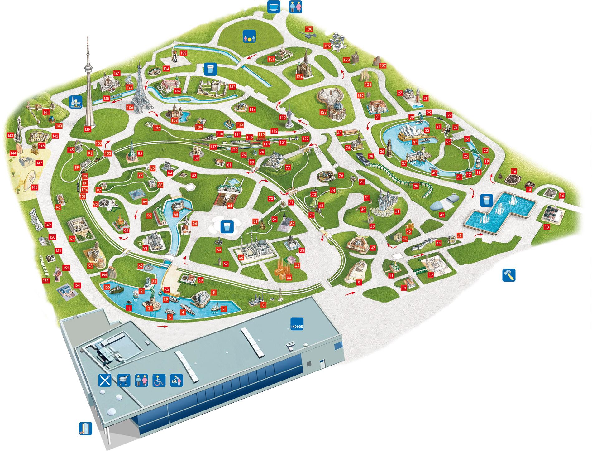 Park Map Attractions Carinthia Klagenfurt Excursions Minimundus - Klagenfurt austria map